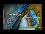 The Aviator Knot Paracord Bracelet by Cetus550 4-Strand without buckle.