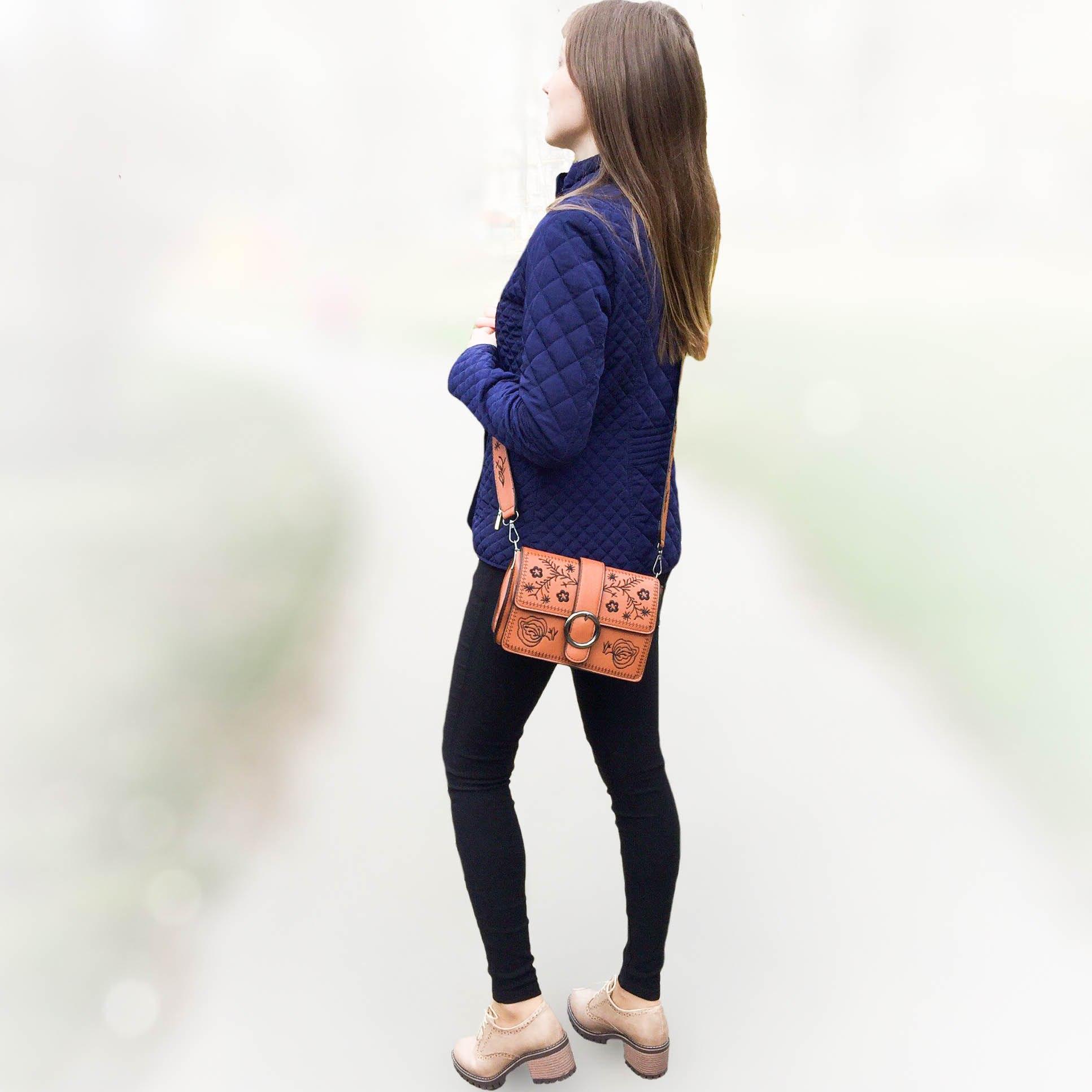 Крутая сумка с вышивкой