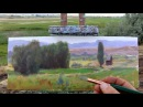 Painting a western homestead in about an hour