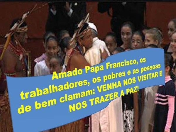 Clamor ao Papa Francisco para que visite Lula e nos traga a paz!
