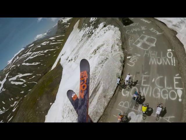 Потрясающий спуск с горы на лыжах от первого лица Candide Thovex (DubStep Edition) 2