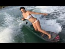 Wakesurfing Girls Falls But Saves Beer From Spilling