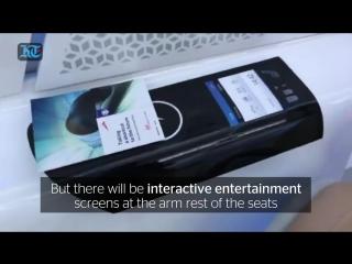 A look inside Hyperloop commuter pod