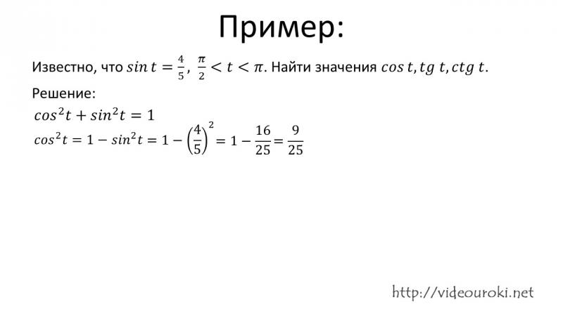 09. Тригонометрические функции числового аргумента.Алгебра.