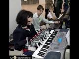 Робот играет на синтезаторе. РОБОФЕСТ Пермь