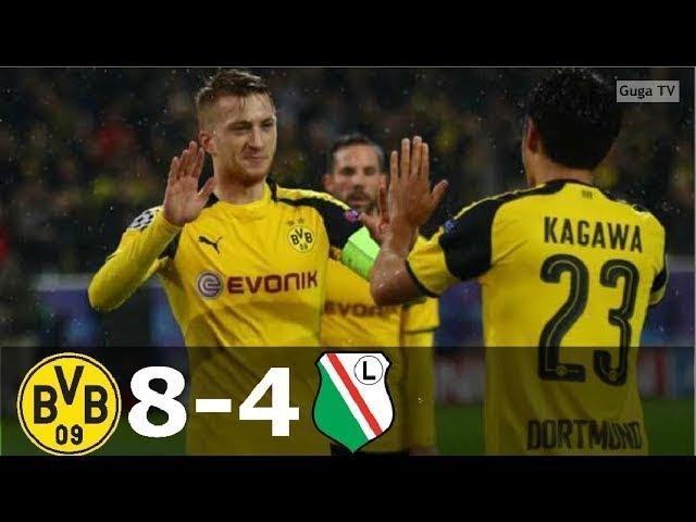 Боруссия Дортмунд – Легия 8-4 - Обзор Матча Лиги Чемпионов 22/11/2016 HD