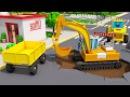 СБОРНИК Машинки Мультики! Мультфильмы для детей про Экскаватор Трактор и Грузов...