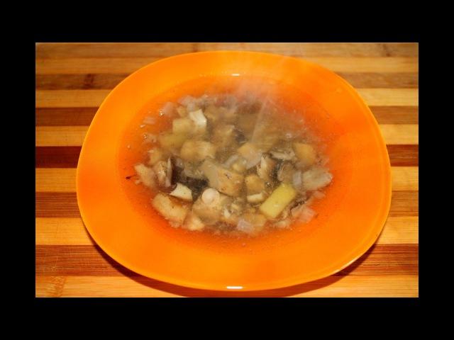 Русская кухня. Груздянка из груздей и опят. Грибной суп.