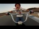 Juliette rides down Laguna Secas corkscrew