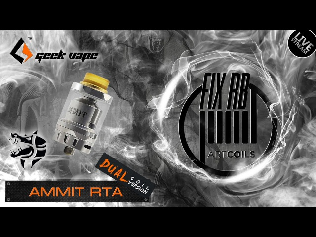 Доброе утро №112 |☕ кофе и Ammit Dual Coil RTA by GeekVape | LIVE 07.04.17| 10:20 MCK
