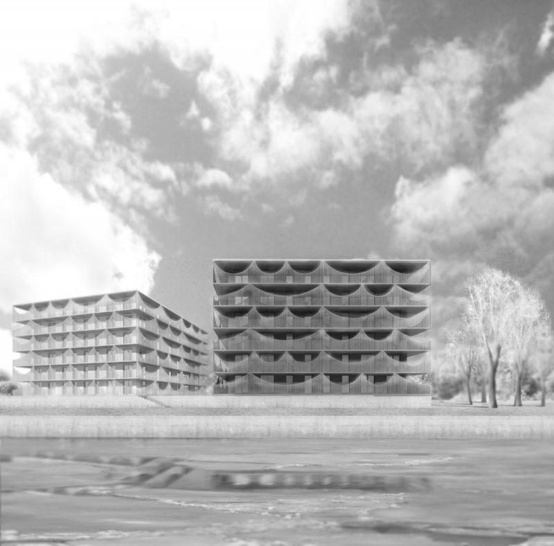 Расположенные на набережной озера Мунксьон, Jönköping, Швеция, эти два блока городских жилых домов домов основаны на долгосрочной стратегии устойчивого жилищного развития, создавая привлекательные дома на одном из самых лучших мест в центре города Йенчепинге.