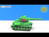 THE TANK T-34. Modeling clay for the Victory Day - Video Modeling