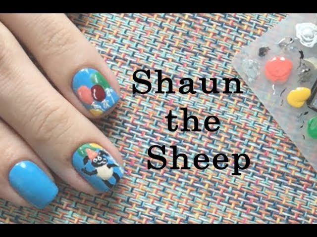 Nail Art Shaun the Sheep | Маникюр Барашек Шон