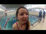 История о том, как Олеся в школе плавания училась