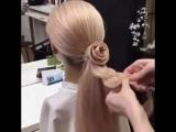 Роскошный цветок из волос