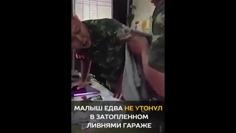 Солдат спас тонувшего щенка с помощью массажа