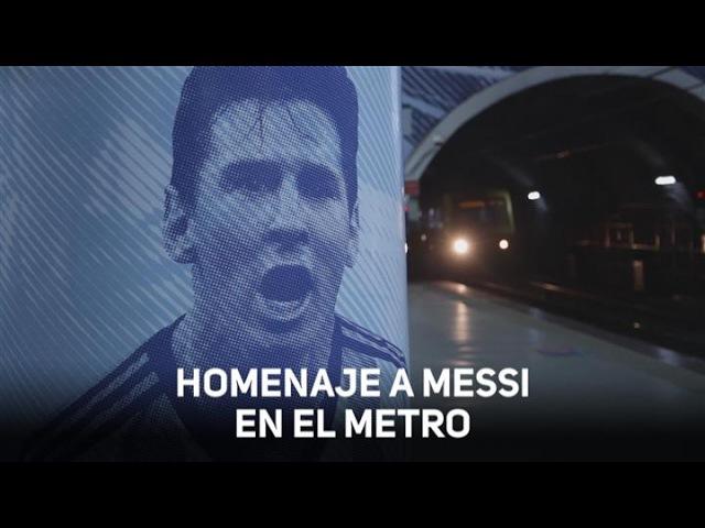 Argentina rinde homenaje a Leo Messi en el metro
