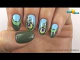 ГЕЛЬ-ЛАК дизайн на ЛЕТО Перо Павлина - Рисунки на ногтях видео пошагово + Как я делаю себе ногти