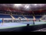 Сегодня женская сборная Германии по теннису провела первую тренировку в