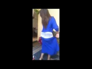 Lm3allem لمعلم moroccan girl sexy ass dance in blue 2017