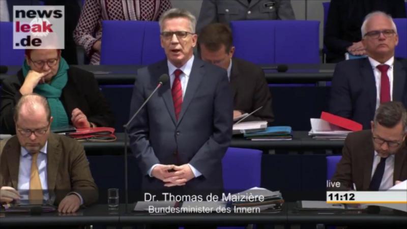 Thomas de Maizière windet sich bei Rechtsbruch der Grenzöffnung - AfD fragt nach