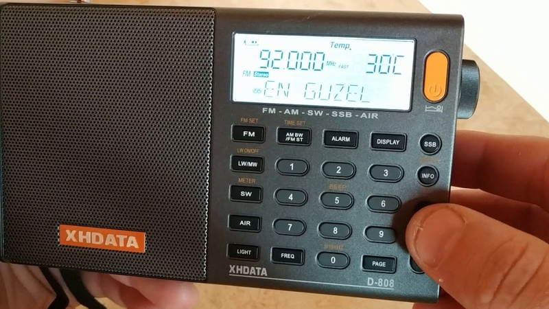XHDATA D-808 ловим Турцию на FM