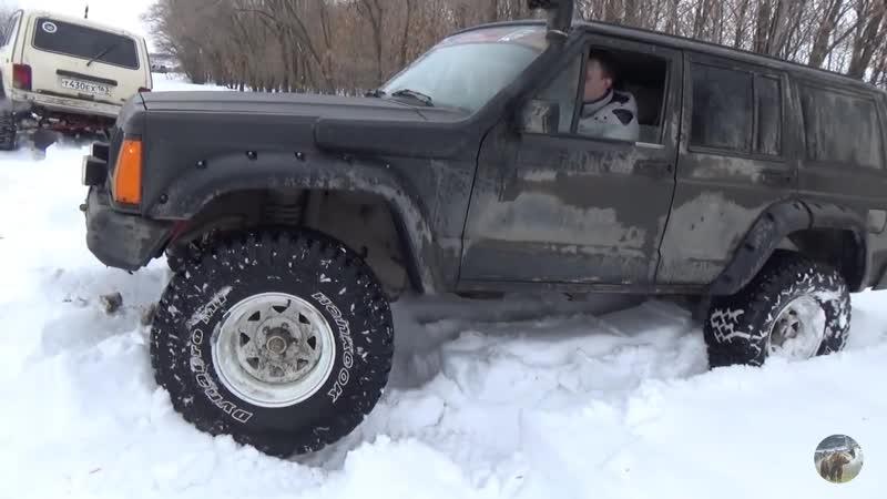 Чероки берёт реванш у Нивы Битва в снегу Jeep Grand Cherokee vs Jeep Cherokee