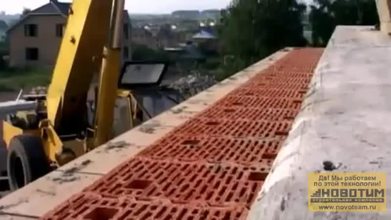 Строительство дома из керамических блоков Porotherm