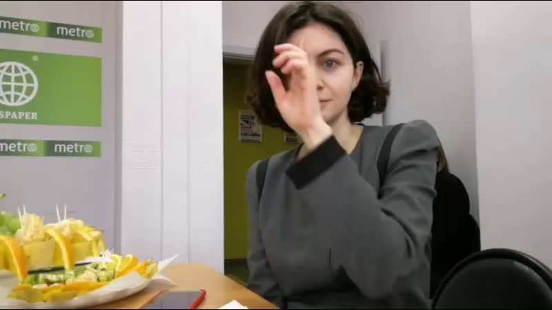 Телеведущая и актриса Анна Чапман в гостях у Газеты Metro