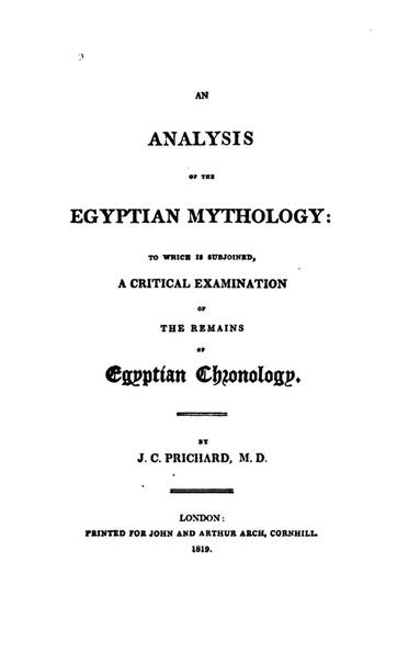 Analysis of the Egyptian Mythology