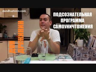 Дон Дружинин   Подсознательная программа Самоуничтожения