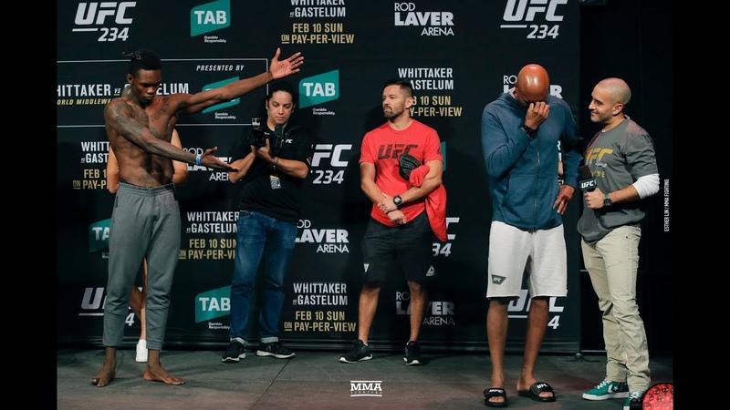 UFC234: Исраэль Адесанья и Андерсон Силва на взвешивании