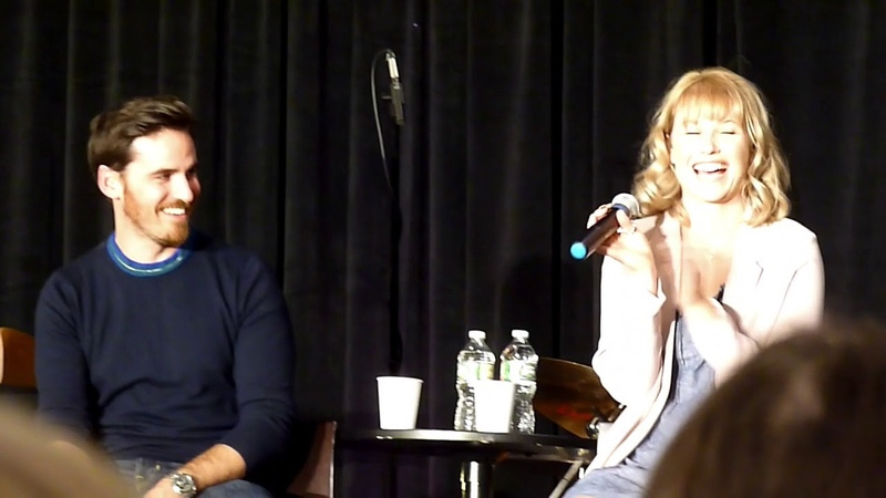 Colin O'Donoghue and Rose Reynolds Gold Panel OUAT NJ 2018