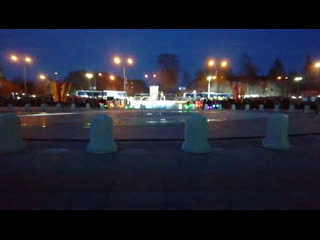 Череповец. Торжественное открытие нового фонтана у Дворца металлургов.