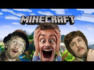 Minecraft Реакция взрослых. Взрослый мужик играет в Minecraft. Такого Нуба Вы еще не видели )