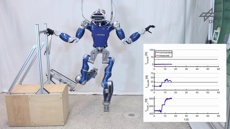 DLRRMC Multi-Contact Balancing of Humanoid Robots in Confined Spaces Utilizing Knee Contacts