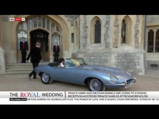 Meghan Markle reveals second royal wedding dress as she heads to Frogmore House