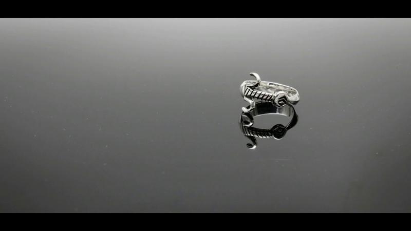 Prelucrare argint inel barbati 925 model sabie Atelier Costin
