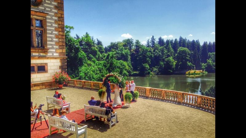 Свадьба в Праге в замке Пругонице Павла и Евгении