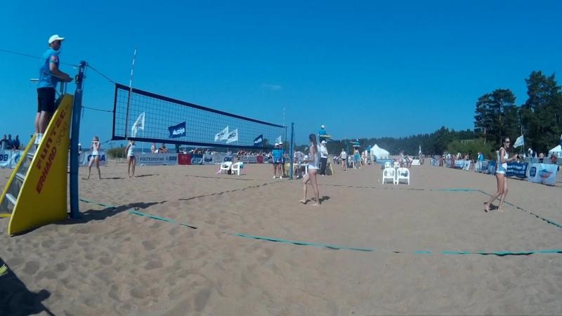 Beach volley Russia Solnechnoe 2018 W 05 Sviridova-Sviridova and Novikova-Sukhoverhova