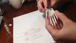 Шарнирная кукла: лепка кисти руки и запястного шарнира