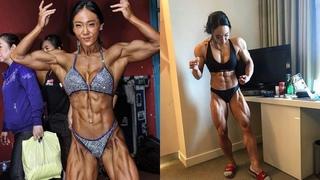 an da jeong South Korean bodybuilding babes  ifbb