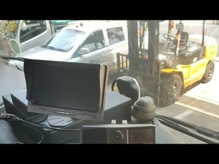 Heavy Truck mobile surveillance project in Singapore/AHD 720P MDVR/ADAS driver behavior
