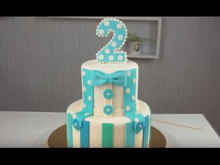 Как украсить торт для мальчика. Как сделать двухъярусный торт из мастики своими руками | Больше рецептов в группе Десертомания