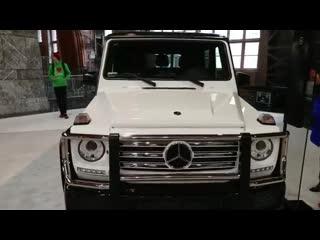 2018 diamond white mercedes benz g 550 @ philadelphia convention center car show