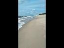 Пляж в янтарном август