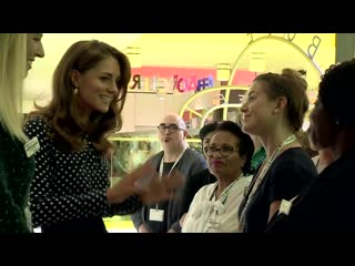 Duchess of cambridge charms shy four-year-old during sunshine house visit