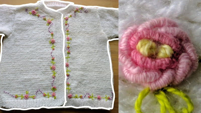 Cómo bordar un suéter o jersey con punto rococó