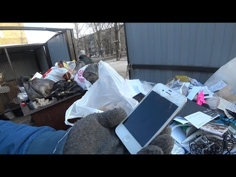 Нашел телефон ювилирку серебро женскую шкатулку кучу металлолома в мусорном баке freegan фриган