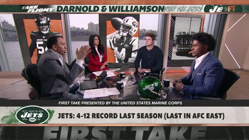 Sam Darnold excited to work with LeVeon Bell, focused on what he can control - First Take